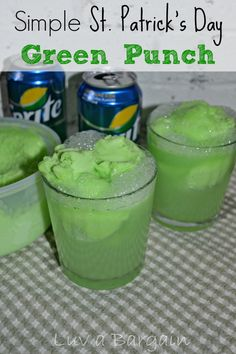 Simple St Patrick's Day Green Punch