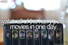 harri potter, books, movie marathon, bucketlist, buckets, food, bathrooms, harry potter, bucket lists