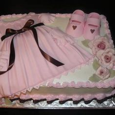 Baby Girl Dress Shower Cake - from Stylish Eve
