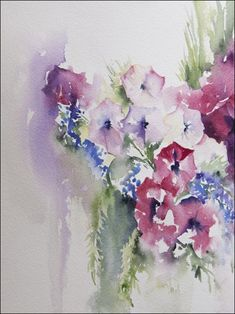Angela Fehr   WATERCOLOR rose, canadian artist, floral soft, acuarela, watercolor paintings, favorit flower, angela fehr, easel artist, marketgarden
