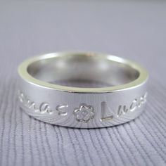 Mothers ring with names custom made with childrens names in silver | TwoSilverMoons - Jewelry on ArtFire mother ring, idea, gift, mothers, style, names, etsi list, sterling silver, jewelri