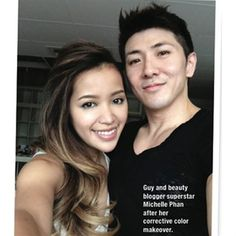 Behind The Chair - Articles: Guy Tang's color correction on You Tube Star Michelle Phan using Kenra Color! chair, color ombr, color correct, kenra color, correct color