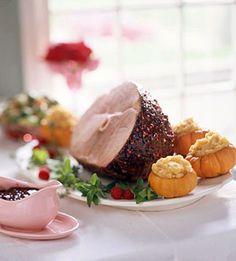 Raspberry-Pepper Glazed Ham