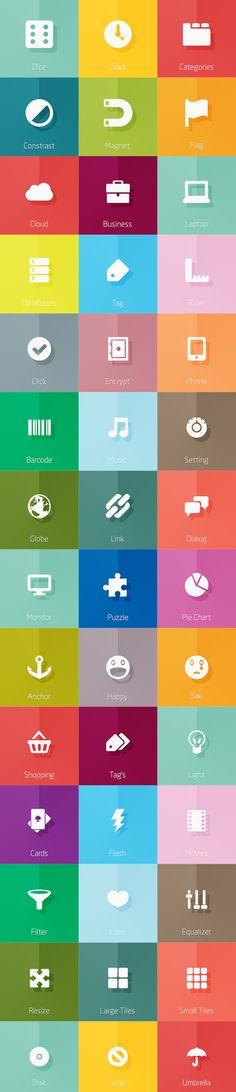 New Flat Icons Sets 2014