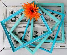 Aqua picture frames
