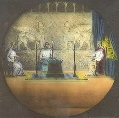 The original Master Masons. King Solomon, Hiram, King of Tyre, and Hiram Abiff.