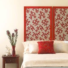 Cheap & Chic DIY Headboard Idea