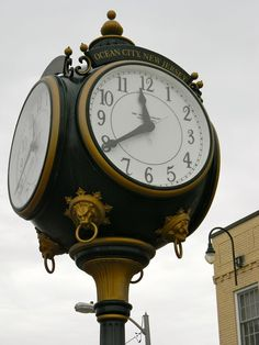 Ocean City, NJ - clock on the #boardwalk