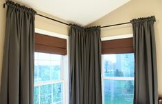 use ribbon to gather curtains perfectly