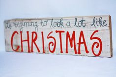 It's Beginning to Look a Lot Like #Christmas Sign by @ChevvyandRons, $25.00