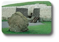 This is Newgrange, a Stone Age monument in County Meath.  See much more at Irish Expressions.com!