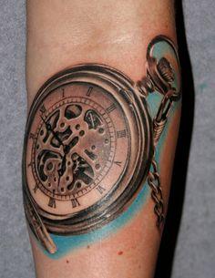 pocket watch tattoo | Pocket Watch Tattoo Photos