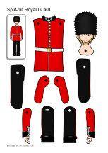 Split-pin Royal Guard and horse