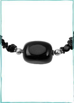 Black Onyx and Sterling Silver Necklace by Barse Jewelry