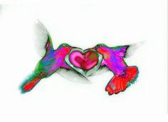 Hummingbird Love by Vice1.deviantart.com on @deviantART