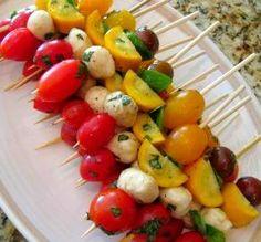 Fresh Caprese Vegetable Kabobs