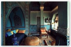 I've always wanted a Moroccan blue bedroom