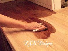 easy butcher block countertop tutorial #diy #butcherblock @Remodelaholic .com .com .com .com