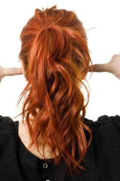 red hair with cinnamon, copper, and golden tones