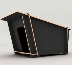 The FUORA dog house is a contemporary, stylish and eco-friendly dog kennel made of high-quality birch wood from sustainable forests. Easy to assemble, the FUORA dog house comes flat-packed and requires no glue, screw or tools. We've put ours together for our dog Lucas in less than 10 minutes!