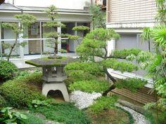Lovely Pagoda and Dwarf Juniper Garden miniatur garden, wee garden, japanes garden, japanese gardens, zen gardens, mini gardens, mini indoor