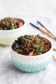 Hoisin Caramelized Salmon and Sesame Soba Noodle Bowls   halfbakedharvest.com