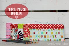 Zippered Pencil Pouch Tutorial by SimplyNotable.com