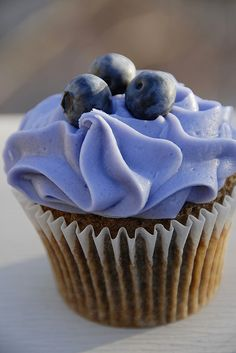 There's only one way to make a blueberry muffin better—make it a blueberry cupcake.