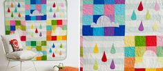 Cloud song - cheerful quilt by Kathreen Ricketson
