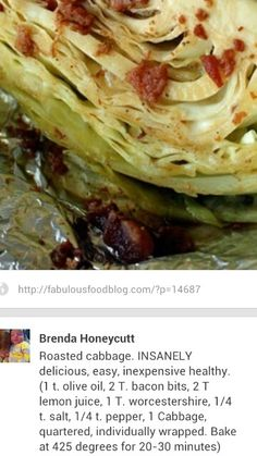 Oven Roasted Cabbage