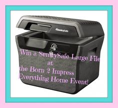 At the Born 2 Impress Everything Home Event- Win a SentrySafe Large File FHW40100