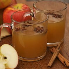 Could try this wassail recipe or:  1/2 gal. apple cider  1/2 qt. orange juice  1/2 c. lemon juice  1/2 qt. pineapple juice  12 cloves  2 or 3 sticks cinnamon  1/2 c. sugar    Stir all together in a large pot and simmer.