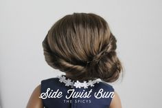 Side Twist Bun - An American Girl Doll Holiday Hairstyle Tutorial