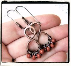 Antique Copper Jasper Wire Wrapped Dangle by FashionWire