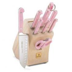 Pink knife set.