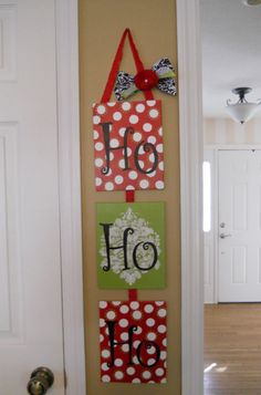 "Hand Painted ""Ho Ho Ho"" Christmas Canvas or wrapped boxes"