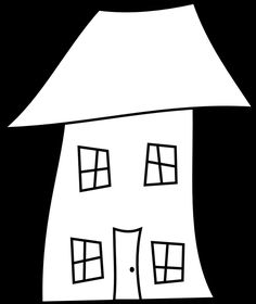 Here are Three Crooked House Digital Stamps (Perfect for Housewarming Cards): Three Crooked House Digital Stamps - 2