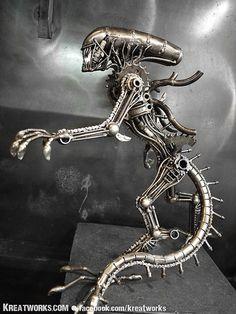 bangkok, steampunk monster, metals, metal stand, thailand, monsters, monster medium, stand monster, medium item