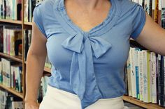 DIY bow shirt @Sydney Fredrick