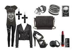 gothic chic clothes, goth skull, style, thing skull, gothic bags, skull shirt outfit, gothic outfits, gothic fashion
