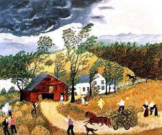 Grandma Moses Thunderstorm 1948