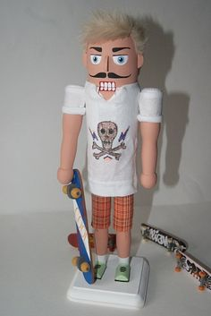 Skateboarder Nutcracker by monhoss135 on Etsy, $80.00