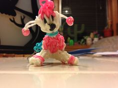 Rainbow loom poodle  by RainbowLoomTreasures on Etsy, $5.00