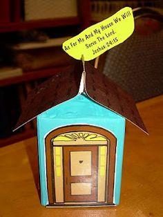 Joshua 24:15 milk carton craft