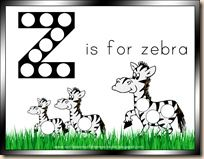 Letter Z is for Zebra