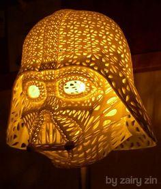 3D Printed Darth Vader Lamp Shade
