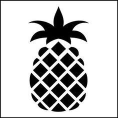 Pineapple Stencil On Pinterest Stencil Folk Art And