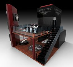 Mission Hockey Trade Show Booth by Colin Beney, via Behance