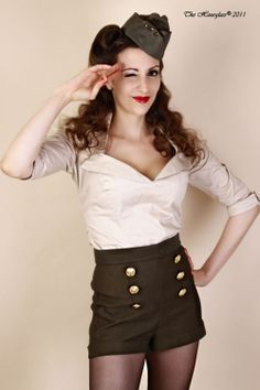 This pin-up outfit is SO CUTE! .... next halloween costume perhaps?