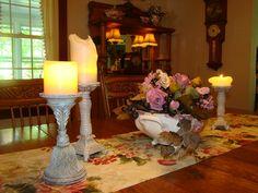 Open Gates Farm Bed & Breakfast   Formal Dining Room Tablescape